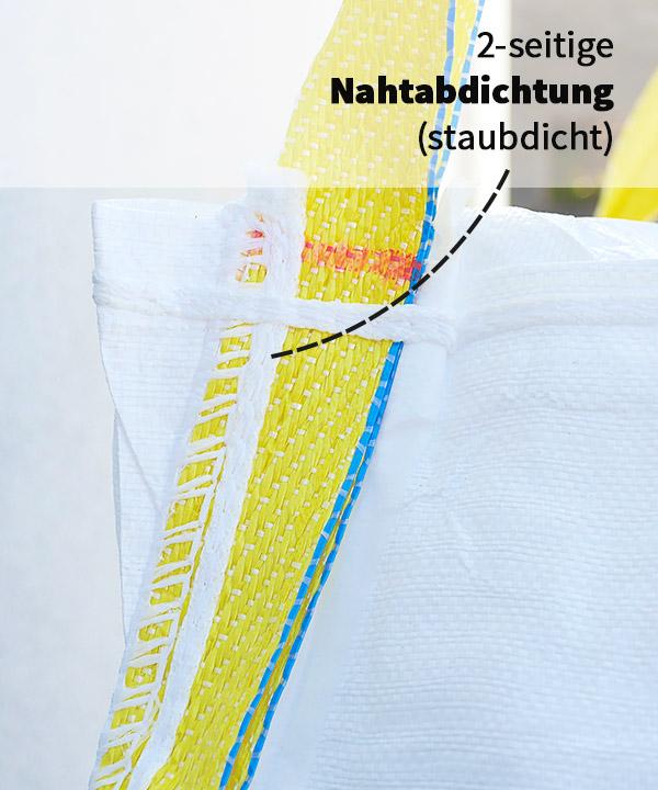 Big-Bag-90x90x110cm-1500kg-Einlauf-Auslauf-Nahtabdichtung_detail